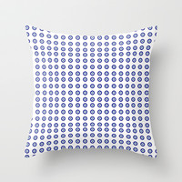 evil eye pattern Throw Pillow by Deadly Designer
