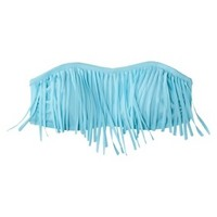 Xhilaration® Junior's Bandeau Swim Top w/ Fringe -Blue Frost