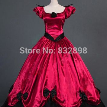 Southern Belle Victorian Princess Dress Gown Ball Gown Reenactment Clothing Steampunk Dress Women Dress
