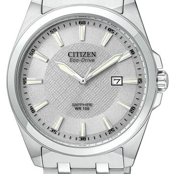 Citizen BM7100-59A Men's Eco Drive Stainless Steel Silver Dial Watch