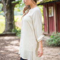 Sincerely Yours Tunic, Tan