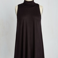 Minimal Long Sleeveless Tent Ease to Meet You Tunic in Black