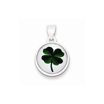 Sterling Silver 4 Leaf Clover Pendant, Best Quality Free Gift Box Satisfaction Guaranteed