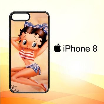 Betty Boop Pinup F0306 iPhone 8 Case