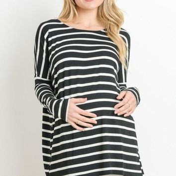 Dolman Striped Tunic