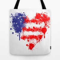 American Heart Tote Bag by Trinity Bennett