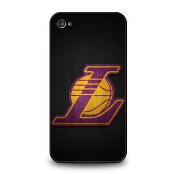 LA LAKERS WOODEN LOGO iPhone 4 / 4S Case