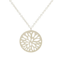 Falling Leaves Small Round Necklace