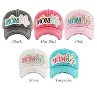 Mom Life Washed Vintage Ball Cap