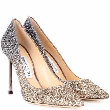Exclusive to mytheresa.com – Romy 100 glitter pumps