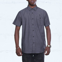 Pelican Bay Chambray Button Up Shirt Black