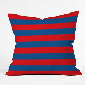 Holli Zollinger Rugby Stripe Throw Pillow