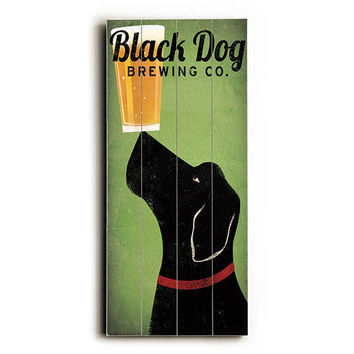 Black Dog Brewing Co by Artist Ryan Fowler Wood Sign