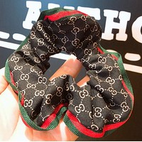 GUCCI Classic Stylish GG Letter Hair Rope Head Rope Hair Band Black