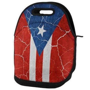 PEAPGQ9 Distressed Puerto Rican Flag Lunch Tote Bag