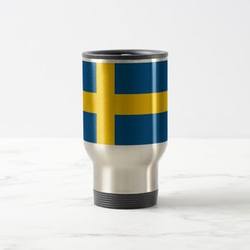 Travel Mug with Flag of Sweden