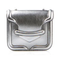 ALEXANDER MCQUEEN HERO SILVER LEATHER BAG
