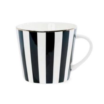 Miss Etoile Black Striped Mug