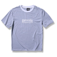 """thrasher""print short sleeve  women round neck T-shirt man Cotton  stripe"