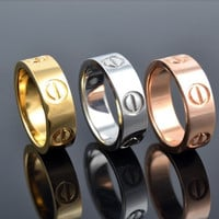 New Fashion Jewelry Screw Shape 3 Color Stainless Steel Unisex's Ring Best Gift! = 1930098116