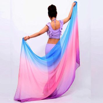 Belly Dancing Costumes chiffon yarn scarf Solid Belly Dance Veils Stage Performance Props P9