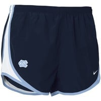Nike North Carolina Tar Heels (UNC) Ladies Navy Blue Dri-FIT Tempo Performance Training Shorts