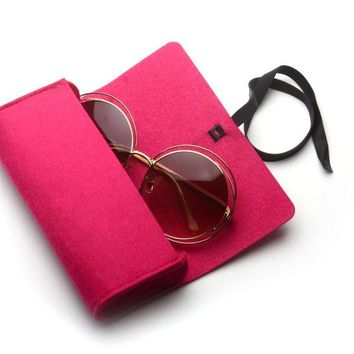 Top-grade Exquisite Sunglasses Boxes High Quality Luxury  Fabric Fashion Accessory R001