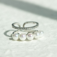 Personality pearl  925 Sterling Silver ring, a perfect gift