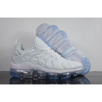 "2018 Nike Air Max Plus TN VM ""White"" Vapormax Vapor Max Men Women Fashion Running Sneakers Sport Shoes"
