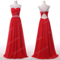 Sexy NEW Chiffon Homecoming Prom Gown Party Long Bridal Bridesmaid WEDDING Dress
