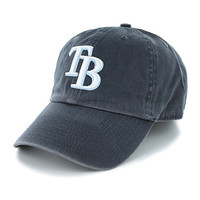 MLB '47 Brand Tampa Bay Rays Navy Blue Clean Up Adjustable Hat