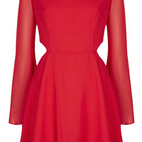 Cutout Angel Sleeve Dress - Topshop USA