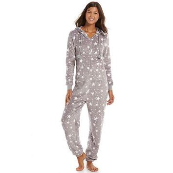 Juniors' SO® Pajamas: Plush One-Piece Pajamas