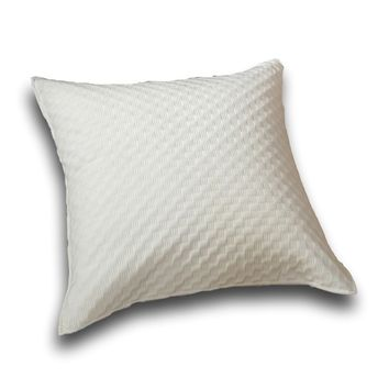 "DaDa Bedding Soft Velvet Eggshell White Warm Euro Pillow Sham Cover, 26"" x 26"" (JHW861)"
