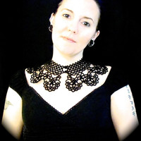 Tatted Lace Collar Choker Necklace - Timeless