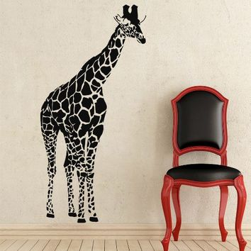 Giraffe Wall Decals Animals Vinyl Sticker Living Room Decor Baby Kids Wall Decor Home Decor Vinyl Nursery Room Decor NS934