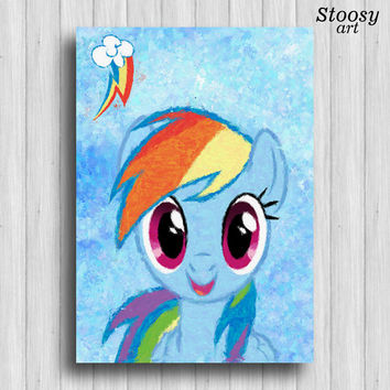 Rainbow Dash my little pony poster  kids art print