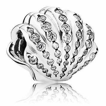 disney parks ariel sterling silver shell pandora jewerly charm new with tags