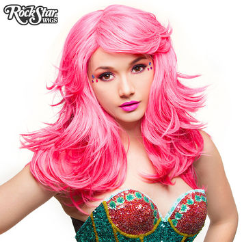 "RockStar Wigs®  Hologram 22"" - Atomic Hot Pink - 00633"