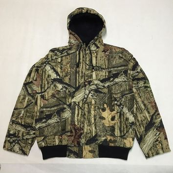 Men's Insulated Camouflage Hunting Coat Winter Hooded Jacket Thermal Bomber Coat Ourdoor Men Bionic Camouflage Hunting Clothes