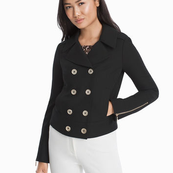 White House Black Market Double Breasted Crop Jacket