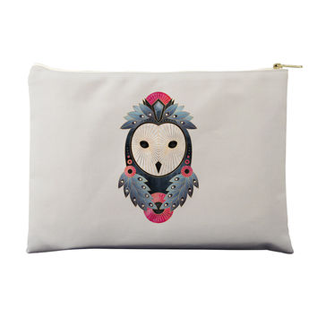 Owl Light Background Pouch