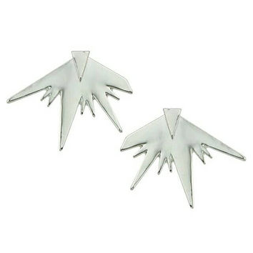 Spiked Ear Jackets - Punk Ear Jackets - Rock Ear Jackets - Silver Ear Jackets - Pointy Ear Jackets - Stud Earrings