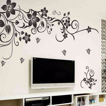 Home Decor Wall Stickers Mural Decal Flowers Art Vine