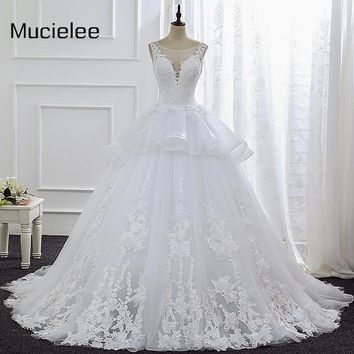 Vestido De Noiva Princesa China Bridal Gowns Vintage Lace White Wedding Dresses Newest Country Western Wedding Dresses 2017