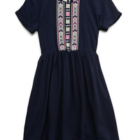 Embroidered Woven Dress (Kids)