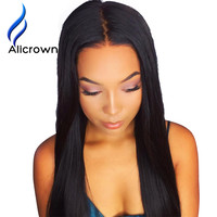 Alicrown Lace Front Human Hair Wigs For Black Women Straight...