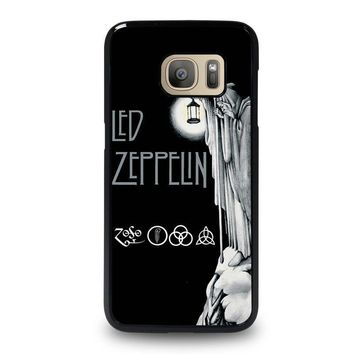 led zeppelin darkness samsung galaxy s7 case cover  number 1