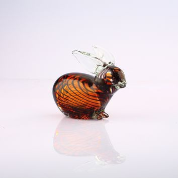 Pet Rabbit Glass Figurine