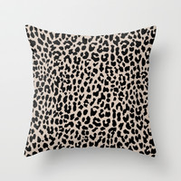 Tan Leopard Throw Pillow by M Studio